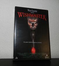 WISHMASTER dvd / wes craven / TERROR/ descatalogada /