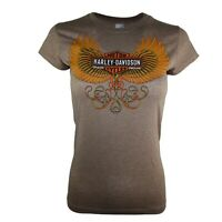 Ladies  Beige Graphic Cotton Body Fit Tops T Shirts 22
