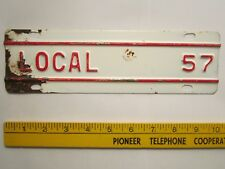 ICENSE PLATE Truck Tag TOPPER 1957 KANSAS Add-On Tab LOCAL [Z289D18]