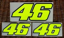 Valentino Rossi 46 Decal 3 Sticker Fluorescent Yellow - big size - SEASON 2016