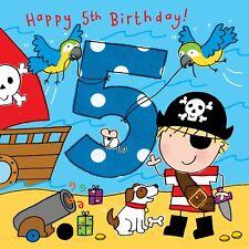 5 Year Old Card -Age 5 Card -5th Birthday Card For Boy -Boy Age 5 Card -Pirate