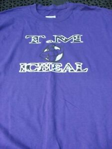 T.MICHEAL BODY BUILDING GEAR, OVER-SIZED TOP, SIZE: XL, COLOR: PURPLE, WHITE & B