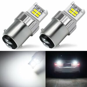 JDM ASTAR 2x BAY15D 1157 Signal Brake Parking Light 3020 12 SMD LED Bulbs White