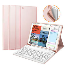 """For iPad Air 3rd 10.5"""" 2019 Soft TPU Back Case Cover Stand w Bluetooth Keyboard"""
