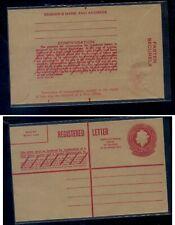 Australia registered postal envelope overprinted unused
