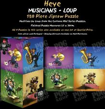 Puzzle Heye musicians Loup 150 Pezzi 30X21 Triangolo 29501 New Mordillo Cartone