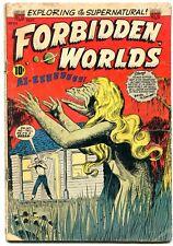 FORBIDDEN WORLDS #33 1954-BRIDE OF THE SWAMP-SKULLS G/VG