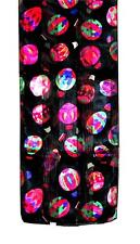 SCARF Red Green Purple Orange On Black Background BRIGHT BALLOONS IN FLIGHT