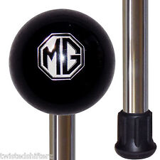 MG Emblem Black Shift Knob Handle Polished Aluminum Custom Cane Stick