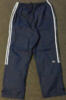 Vtg 90s Adidas Track Pants XL Navy Workout Striped Warm Up Basketball Athletic