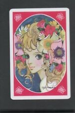 Swap Playing Cards 1 Japanese Wide Eye Girl & Flowers Artist J401