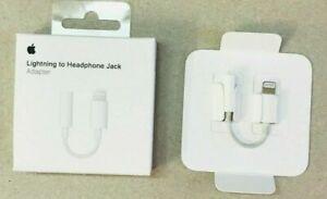2 x  NEW Apple Lightening to 3.5mm Audio Headphone Jack For IPhone X/8/7/7+