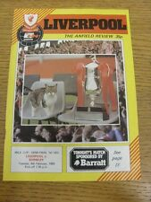 08/02/1983 Football League Cup Semi-Final: Liverpool v Burnley  (folded, creased