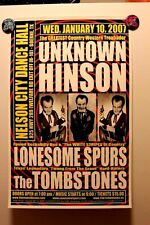 UNKNOWN HINSON Boerne TEXAS (2007) Concert Poster ROCKABILLY squidbillies