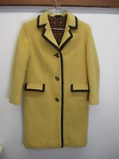 vtg Lodenfrey Coat over top thick gold felt wool long button front sz M Austria