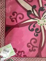Vera Bradley Retired Mod Floral Pink Limited Edition Silk Scarf