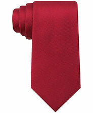 $125 TOMMY HILFIGER Mens SILK RED SOLID SKINNY NECK TIE CLASSIC NECKTIE 60X3.25