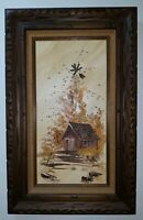 JIM PATTERSON Original Oil Painting on Canvas. Signed Framed. Wisconsin. 20x32
