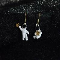 Women Cute Space Star Asymmetrical Astronaut Drop Dangle Earrings Jewelry Gifts