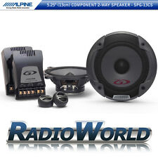 "Alpine SPG-13CS 5.25"" 13cm 2-Way Component Speaker System Set Car Audio 500W"