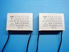 (2) VISHAY ERO F1774-515-2000 1.5uF X2 275V MKT RADIAL SUPPRESSION CAPACITOR