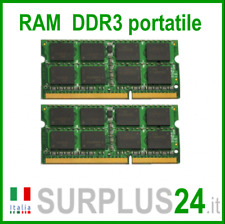KIT RAM 4GB (2x2GB) DDR3 LAPTOP PC3-8500S 1066Mhz SODIMM Notebook Portatile