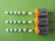 3 moteurs 12v HO  pour remplacer le moteur jouef ou autre  avec 18 pignons
