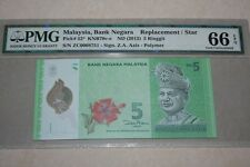 (PL) RM 5 ZC 0008751 PMG 66 EPQ 3 ZERO LOW NICE FANCY NUMBER REPLACEMENT GEM UNC