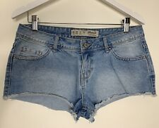 Denim Co Denim Shorts Size 10 Blue Hotpants Faded Worn Frayed