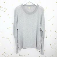 Anthropologie Sweater Size Small S Gray Oversized Asymmetrical Hem Dolman Sleeve