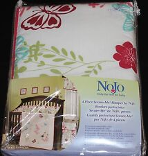 NoJo Alexis Garden 4 Piece Secure Me Crib Bumper Butterflies Girls Nursery