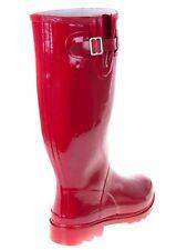 Women Flat Rubber Rain Boots Mid Calf Waterproof Solid & Multi Colors **