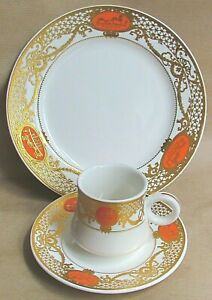 HERMES PARIS CHINA COFFEE TRIOS - PROBABLY LIMOGES (Ref7140)