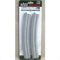 Kato 2-241 Rail Courbe / Curve Track Concrete Tie Inclined R730 22.5° 4pcs - HO