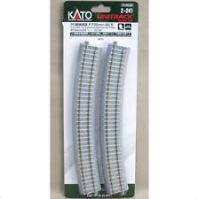 Kato 2-241 Rail Courbe / Curve Track Concrete Tie Inclined R730 22.5° 4pcs - HO