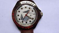 Vostok Boctok vintage watch diver handwinder NEW NOS beige