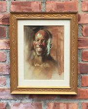 Original Pastel Portrait By Arizona & Calgary Canada Artist Harley Brown Signed