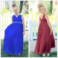 Sequins Chiffon Flower Girl Dress Pageant Dress Graduation Dress Recital Dress