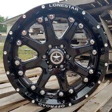 "20"" Gloss Black Lonestar Bandit Wheels Ford F150 Truck 20x9 6x135 +13 Expedition"