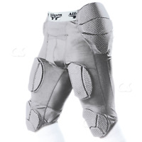 Alleson 7-Pad Integrated Football System Girdle Silver Youth Small 689SGY 994-25