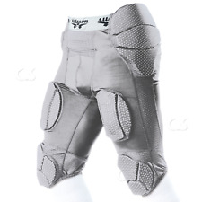 e1da639308d1 Alleson 7-Pad Integrated Football System Girdle Silver Youth Small 689SGY  994-25
