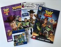 Lot Of 4 Disney Toy Story 4 Jumbo Coloring Book Activities Sticker Crayons Comic