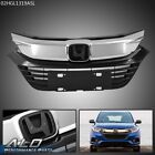 Fit For 19-20 Honda HRV HR-V Chrome&Black Front Bumper Grille Grill Replacement