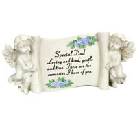 Special Dad Black /& Gold Lily Flower Memorial Tribute Stick Graveside Plaque