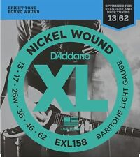 D'Addario EXL158 Nickel Wound Baritone Electric Guitar Strings.Light, 13-62