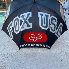 Fox Racing USA Track Umbrella Black White Red 100% Nylon