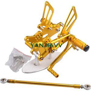 Gold CNC Rearset Footpegs Rear Set For HONDA CBR600F CBR600 F4 F4I 1999-2006
