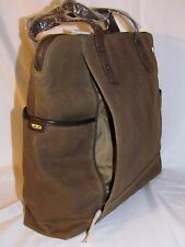 Tumi Distressed Sudbury TTech Forge Brown Business Tote Carryon Bag Briefcase