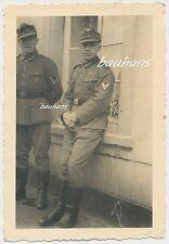 Foto Soldaten mit Orden-Einheitsfeldmütze  2.WK (g299)