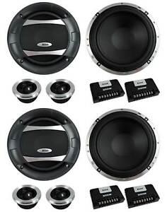 "4) BOSS AUDIO PC65.2C 6.5"" 1000W Car 2 Way Component Speakers Audio Set PC652C"